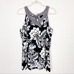 Tommy Bahama Biscus Floral Sleeveless Top
